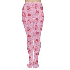 Pink Pattern With Sweet Cupcakes Women s Tights by CoolDesigns