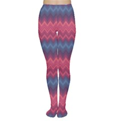 Purple Ethnic Zigzag Pattern In Retro Colors Women s Tights by CoolDesigns