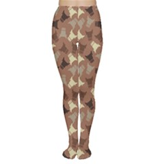 Brown : Cow Design Pattern Women s Tights by CoolDesigns