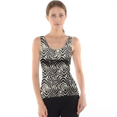 Black Zebra Skin Pattern Tank Top by CoolDesigns