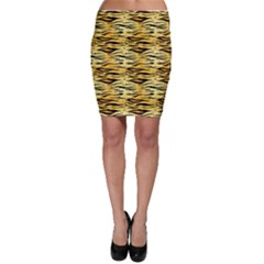 Yellow Tiger Pattern Bodycon Skirt by CoolDesigns