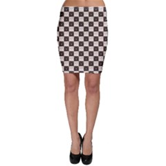 Black Chessboard Made Of Black And White Cats Bodycon Skirt by CoolDesigns