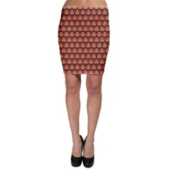 Brown Floral Pattern Bodycon Skirt by CoolDesigns