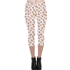 Colorful Pattern Cupcakes Capri Leggings by CoolDesigns