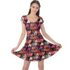 Dark Pattern Hearts Cap Sleeve Dress by CoolDesigns