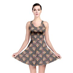 Gray Billiards Flat Pattern Reversible Skater Dress by CoolDesigns