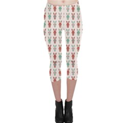 Colorful Rabbit Cartoon Pattern Capri Leggings by CoolDesigns