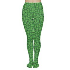 Green Green Basil Leaves In A Pattern Women s Tights by CoolDesigns
