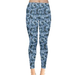 Blue Camouflage Pattern Leggings by CoolDesigns