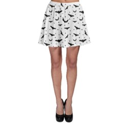 Black Pattern Bats Skater Skirt by CoolDesigns
