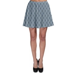 Blue Nautical Rope Knot Pattern Fishing Net Skater Skirt by CoolDesigns