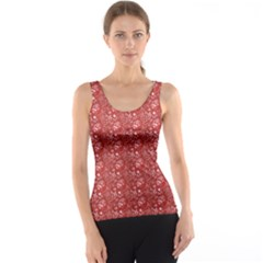 Red Paisley Pattern Design Tank Top by CoolDesigns