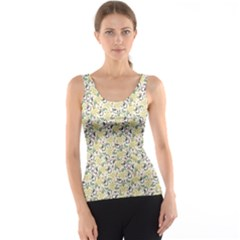 Colorful Abstract Pattern With Floral Tank Top by CoolDesigns