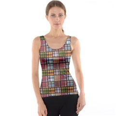 Colorful Set Of Checkered Pattern Tank Top by CoolDesigns