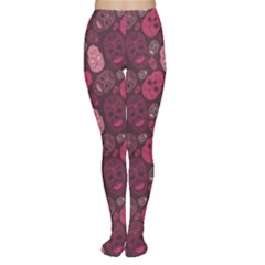 Red Pink And Purple With Skulls Tights by CoolDesigns