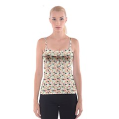 Colorful Pattern With Sushi Spathetti Strap Top by CoolDesigns