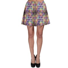 Purple Owls Pattern Skater Skirt by CoolDesigns