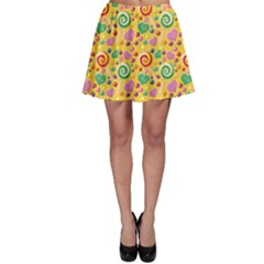 Colorful Of A Pattern Cute Candies Skater Skirt by CoolDesigns