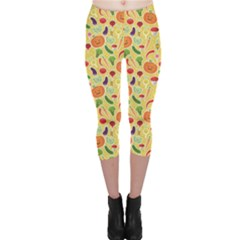 Colorful Vegetables Pattern Capri Leggings by CoolDesigns