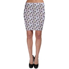 Black Pattern With Cartoon Penguins Bodycon Skirt by CoolDesigns