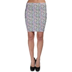 Blue Gentle Striped Repeating Pattern Transparent Butterflies Bodycon Skirt by CoolDesigns