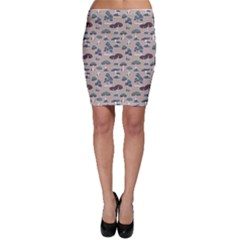 Blue Colorful Mushrooms Pattern Bodycon Skirt by CoolDesigns