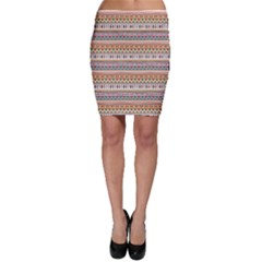 Colorful With Tribal Pattern Bodycon Skirt by CoolDesigns