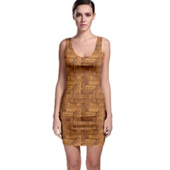 Brown Naturalistic Texture Of Wooden Parquet Bodycon Dress by CoolDesigns