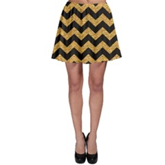 Yellow Black And Gold Pattern Modern Dark Skater Dress by CoolDesigns