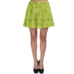 Green Microbes And Bacteria In Petri Dish Pattern Skater Dress by CoolDesigns