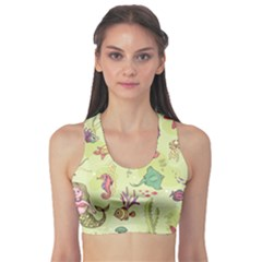 Colorful Pattern With Mermaid Cartoon Stylish Design Women s Sport Bra by CoolDesigns