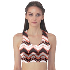 Pink Hand Drawn Pattern Brushed Zigzag Lines Bold Print Women s Sport Bra by CoolDesigns