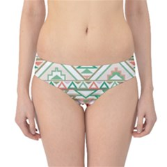 Gray Abstract Geometric Aztec Colorful Pattern Hipster Bikini Bottom by CoolDesigns
