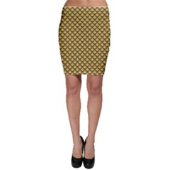 Green Gold Shiny River Fish Scales Bodycon Skirt by CoolDesigns