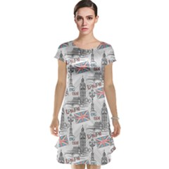 Gray With London S Big Ben Stylish Design Cap Sleeve Nightdress by CoolDesigns