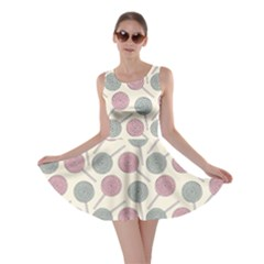 Yellow Lollipop Pattern Sweet Candies Skater Dress by CoolDesigns