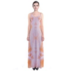 Orange Tie Dye Sleeveless Maxi Dress by CoolDesigns