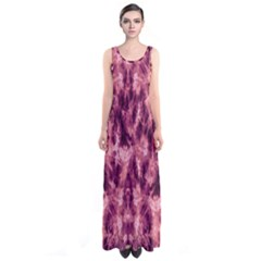 Magenta Tie Dye Sleeveless Maxi Dress by CoolDesigns