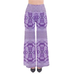 Purple Tie Dye Palazzo Pants by CoolDesigns