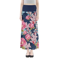Pink Floral Maxi Skirt by CoolDesigns