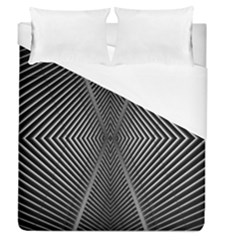 Abstract Of Shutter Lines Duvet Cover (Queen Size) by Simbadda