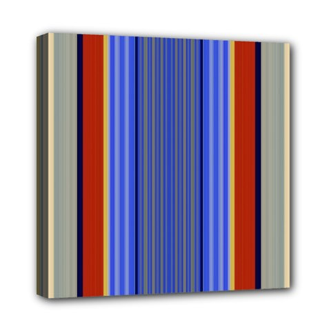 Colorful Stripes Background Mini Canvas 8  X 8  by Simbadda