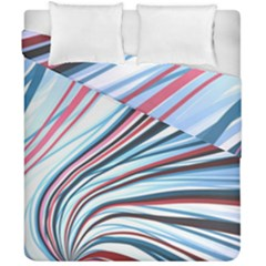 Wavy Stripes Background Duvet Cover Double Side (California King Size) by Simbadda
