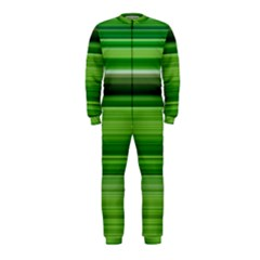 Horizontal Stripes Line Green Onepiece Jumpsuit (kids) by Mariart