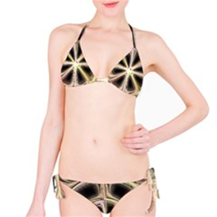 Background With Fractal Crazy Wheel Bikini Set