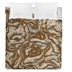 Fractal Background Mud Flow Duvet Cover Double Side (Queen Size) by Simbadda