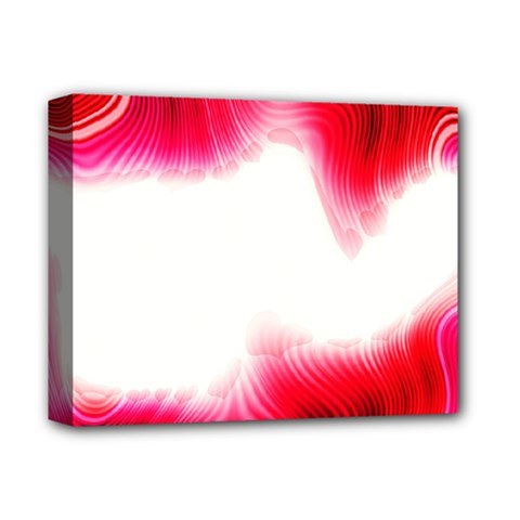 Abstract Pink Page Border Deluxe Canvas 14  x 11  by Simbadda