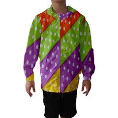 Colorful Easter Ribbon Background Hooded Wind Breaker (kids) by Simbadda