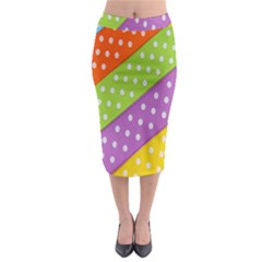 Colorful Easter Ribbon Background Midi Pencil Skirt by Simbadda