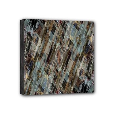 Abstract Chinese Background Created From Building Kaleidoscope Mini Canvas 4  x 4  by Simbadda